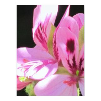 """Invitation - Pink Flowers - Multipurpose Card 6.5"""" X 8.75"""" Invitation Card"""