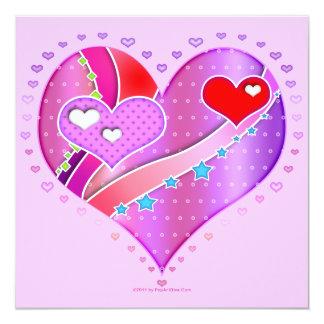 Invitation - Pink Heart, Valentine
