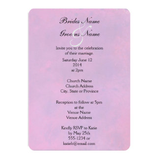 Invitation. Pink Watercolor Abstract Texture Card
