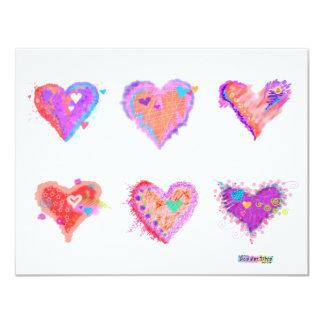 Invitation - Pop Art Crazy Hearts 2