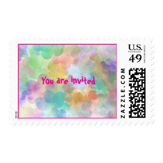 invitation postage -balloons