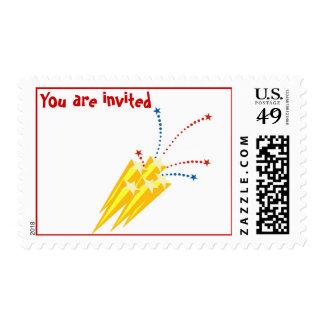 invitation postage -fireworks