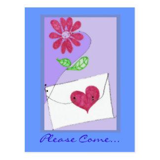 Invitation postcards