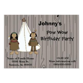 Invitation-Pow Wow Birthday Party Card