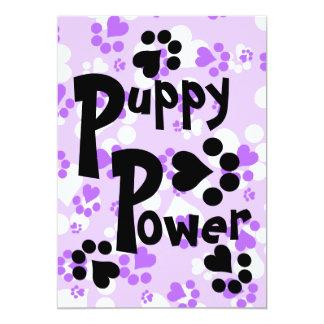 Invitation - Puppy Power - Puppy Paw Prints