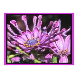 Invitation - Purple-Pink Flowers - Multipurpose