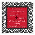 /Invitation que se casa formal negro y blanco del Anuncio Personalizado