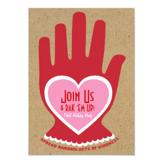 Invitation: Random Act of Kindness in Pink 4.5x6.25 Paper Invitation Card