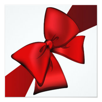 Invitation Red Bow