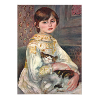 Invitation: Renoir painting of Mlle. Manet and Cat