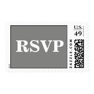Invitation Response Card Battleship Grey Postage