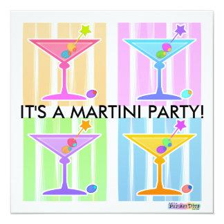Invitation - Retro Pop Art Martinis