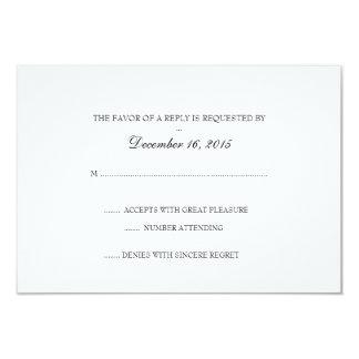 "Invitation RSVP Card | Basic 3.5"" X 5"" Invitation Card"