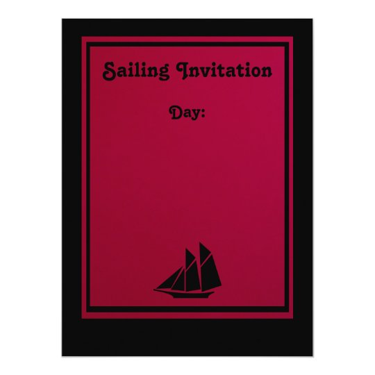 Invitation - Sailing Away