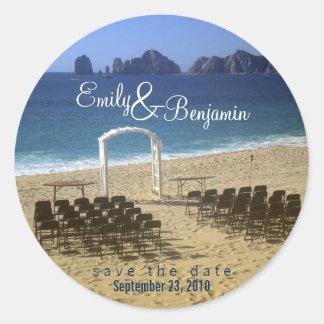 Invitation Seal - Destination Beach Wedding :: 02 Stickers