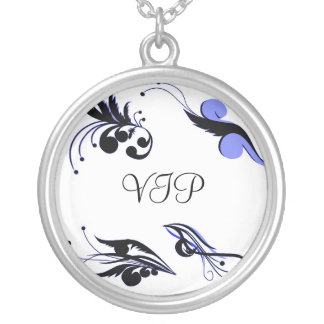 invitation silver plated necklace