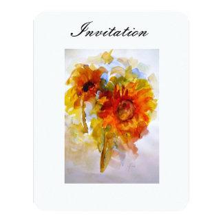 "Invitation ""Singing Sunflowers"" 4.25"" X 5.5"" Invitation Card"