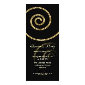 Invitation slim with swirl in gold