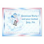 "Invitation  - Snocone Polar Pals 5"" X 7"" Invitation Card"