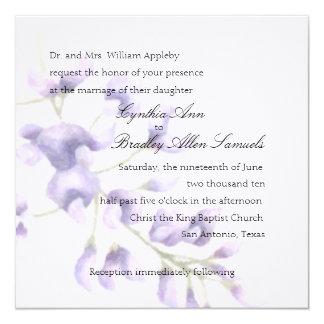Invitation Square Purple Wisteria