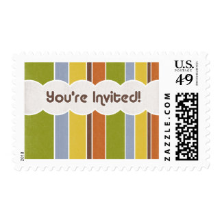 Invitation - Stripes Stamp