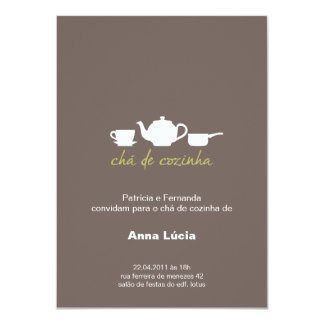 Invitation Tea of Cook Kitchen