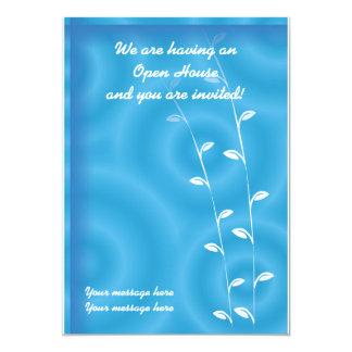 Invitation Template Blue Spa