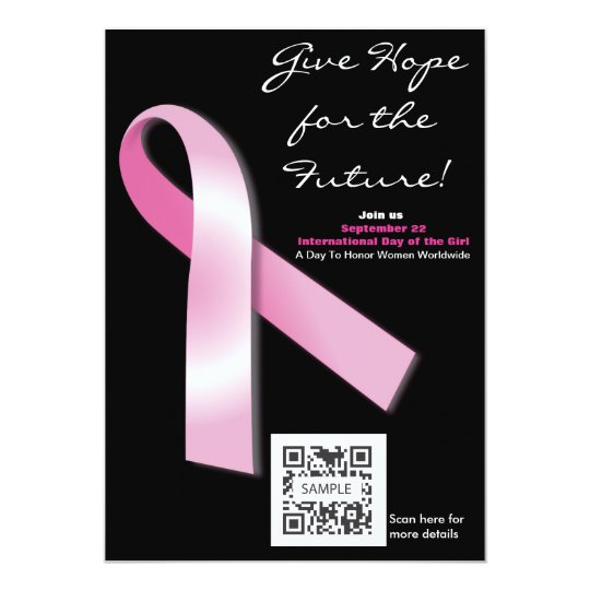 Invitation Template Breast Cancer Awareness