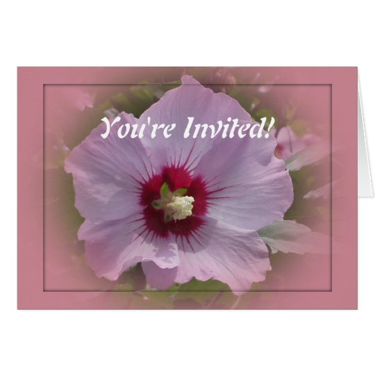 Invitation Template - Hibiscus Flower