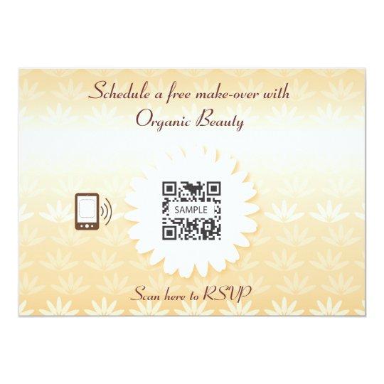 Invitation Template Organic Beauty