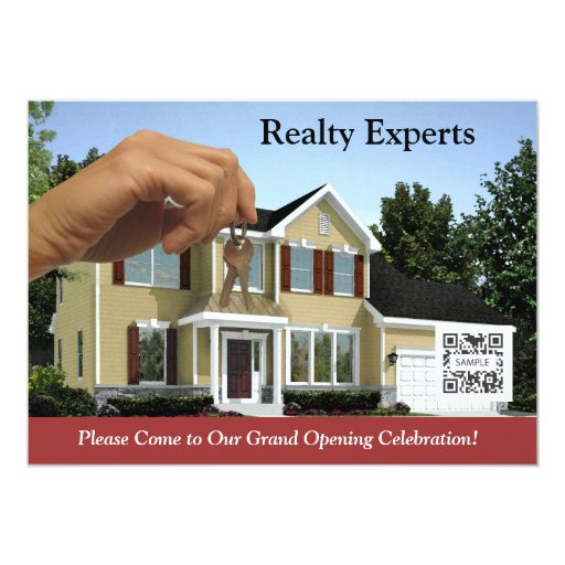 """Invitation Template Realty Experts 5"""" X 7"""" Invitation Card"""
