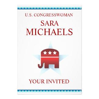 Invitation Template Republican Elephant
