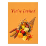 Invitation--Thanksgiving Cornucopia