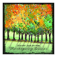 Invitation - Thanksgiving Dinner - Fall Trees