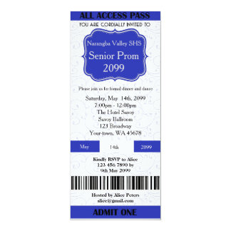 Invitation Ticket Prom, any occasion,easy DIY