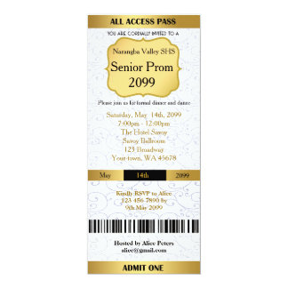 Invitation Ticket Prom Trend,any occasion,easy DIY