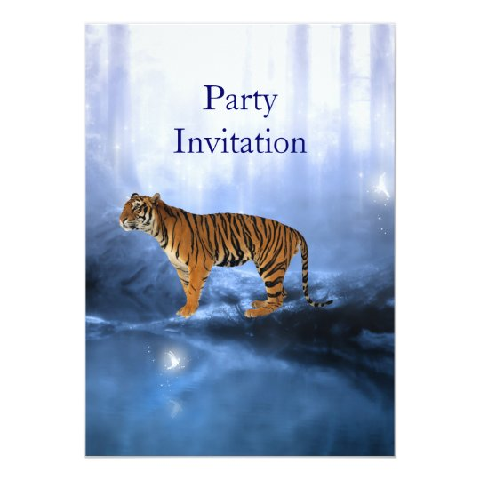 Invitation Tiger at the Waterhole