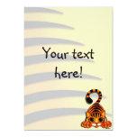 """Invitation - Tiggy the Tiger 5"""" X 7"""" Invitation Card"""