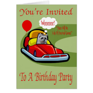 Invitation To A  Birthday Party Greeting Card