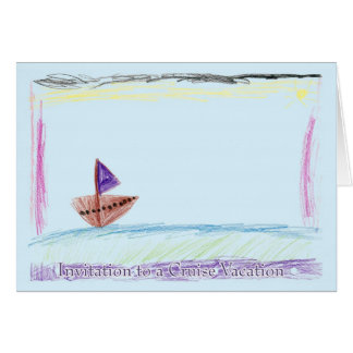 Invitation to a Cruise Vacation Greeting Card
