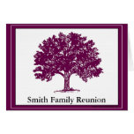 Invitation  to a Family Reunion Stationery Note Card