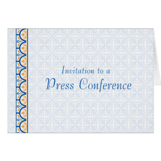 Invitation to a Press Conference