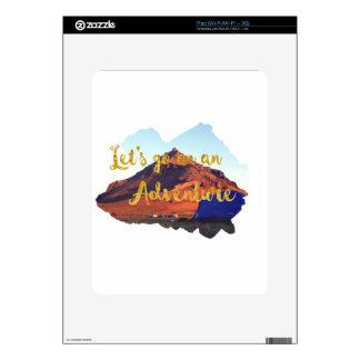 Invitation to adventure decals for iPad