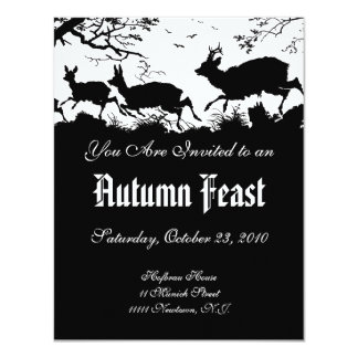 Invitation to an Autumn Feast or Harvest Ball