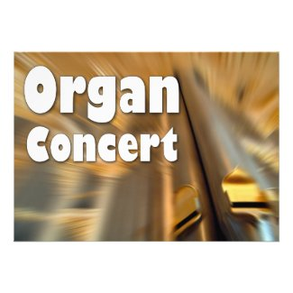 Invitation to an organ concert - Sydney pipes