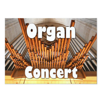 Invitation to an organ concert - Ulm pipes