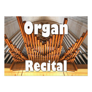 Invitation to an organ recital - Ulm pipes