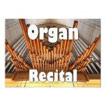 "Invitation to an organ recital - Ulm pipes 5"" X 7"" Invitation Card"