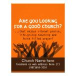 "Invitation to Church.Worship.Bible.Healing.Prayer 8.5"" X 11"" Flyer"