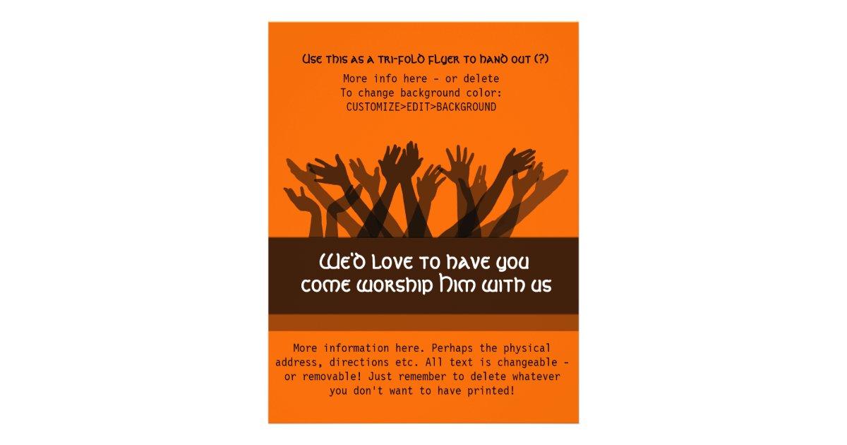 Invitation to Church.Worship.Bible.Healing.Prayer Flyer ...